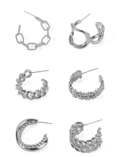 Brass Hollow Geometric Vintage Stud Earring