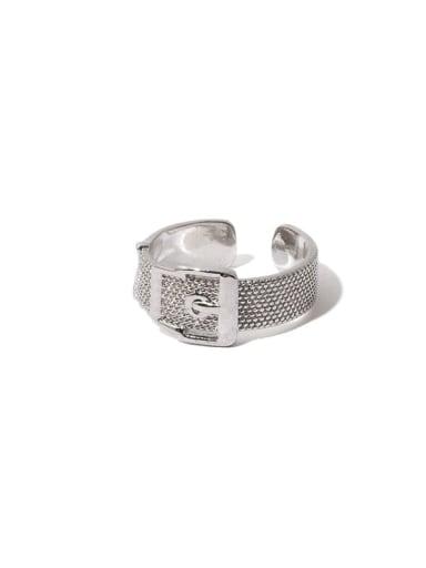 Brass Geometric Hip Hop Belt Buckle Band Ring