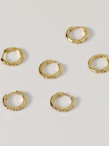 Brass Geometric Vintage Huggie Earring