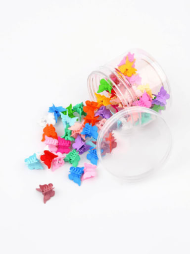 Trend Butterfly Resin Multi Color Jaw Hair Claw