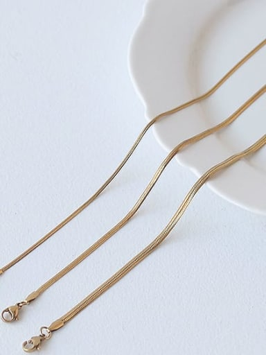 Brass Retro simple flat chain Choker Necklace