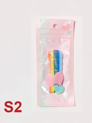 C2 Alloy Multi Color Enamel Cute Geometric  Hair Pin