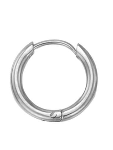 10mm steel color Stainless steel Round Minimalist Hoop Earring