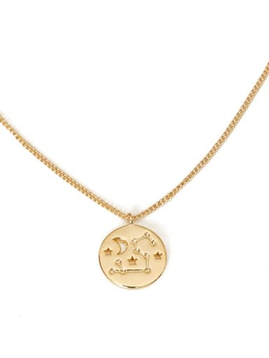 leo Brass Minimalist  Twelve constellations Pendant Necklace