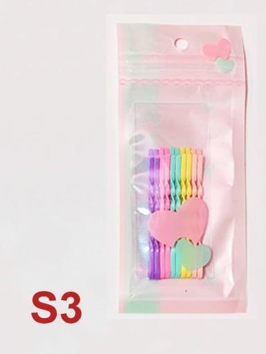 C3 Alloy Multi Color Enamel Cute Geometric  Hair Pin