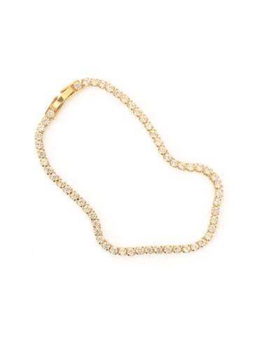 Brass Cubic Zirconia Star Dainty Necklace