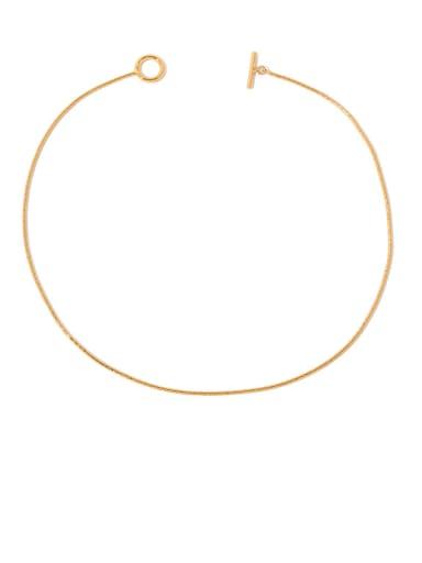 Gold necklace Brass Geometric Vintage Necklace