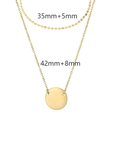 Titanium Steel Geometric Minimalist Multi Strand Necklace