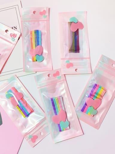 Alloy Multi Color Enamel Cute Geometric  Hair Pin