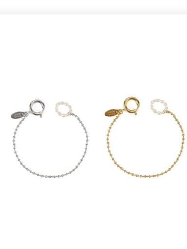 Brass Bead Geometric Vintage Beaded Bracelet