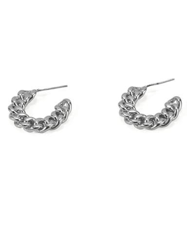 Item 3 Brass Hollow Geometric Vintage Stud Earring