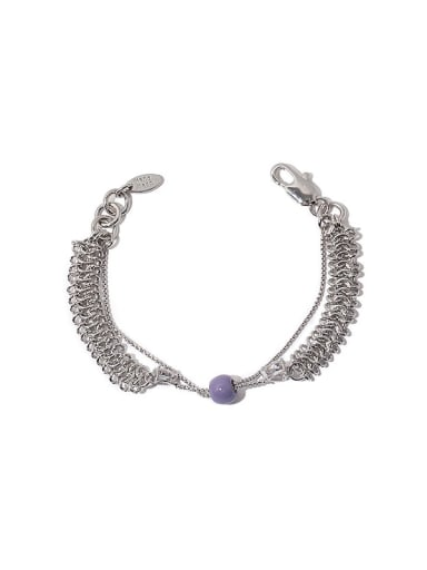 Brass Geometric Vintage Strand Bracelet