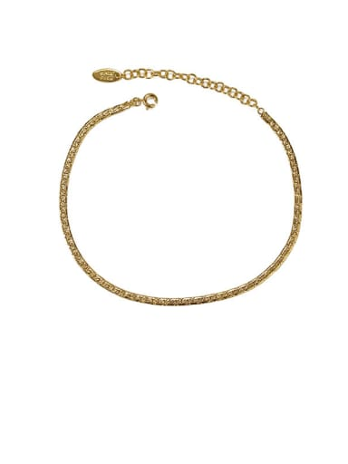 Style 2 gold Brass  Geometric Minimalist Anklet