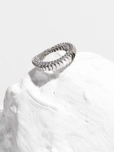 Brass Smooth Snake Bone Chain Vintage Band Ring