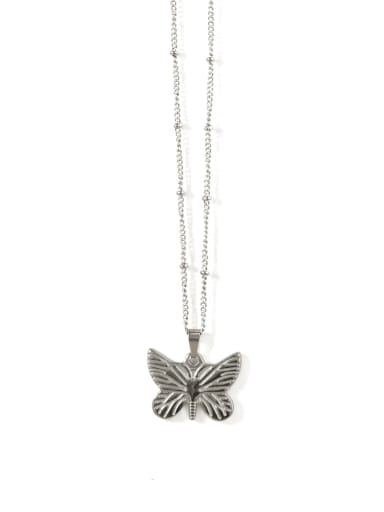 Titanium Steel Butterfly Vintage Necklace