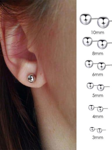 Stainless steel Round Minimalist Stud Earring