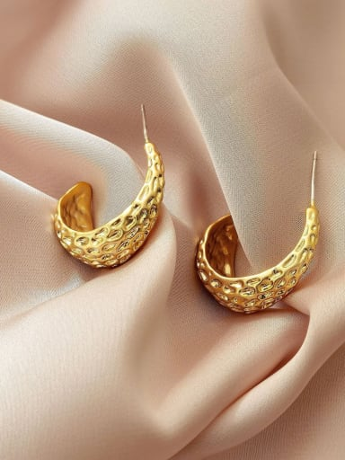 Brass Irregular Vintage Stud Earring