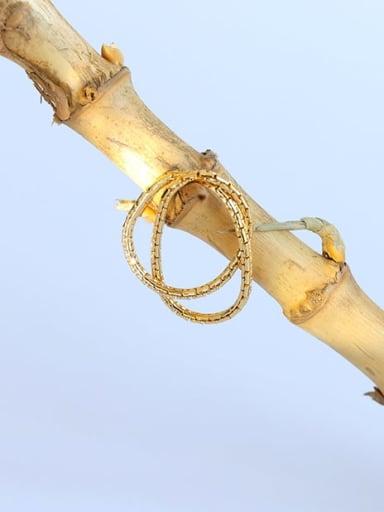 Brass Geometric Minimalist Stackable Ring