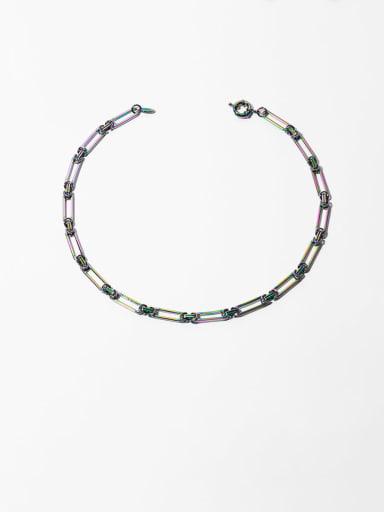 Brass Geometric Hip Hop Beaded Necklace