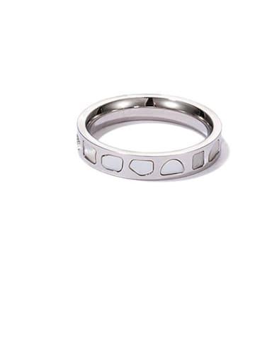 Steel round ring Titanium Steel Shell Geometric Minimalist Band Ring
