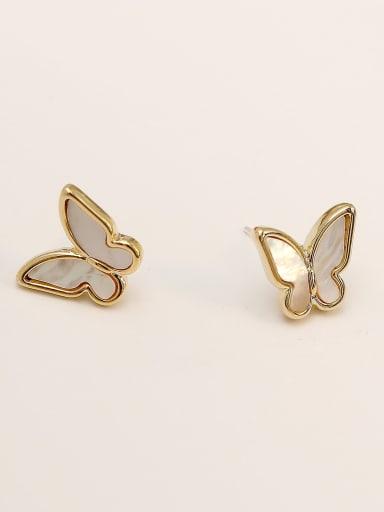 Brass Shell Butterfly Cute Clip Earring