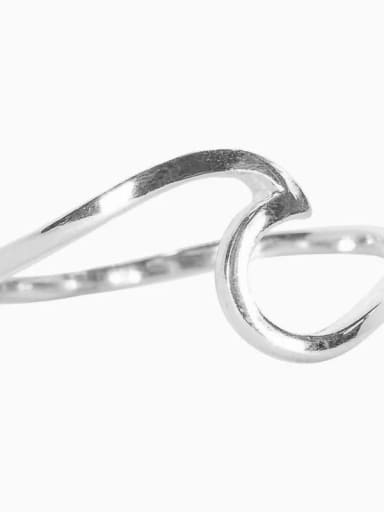 Steel 49mm US5 Titanium Irregular Minimalist Band Ring