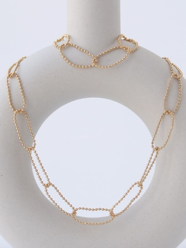 Brass  Hollow Geometric Chain Minimalist Necklace