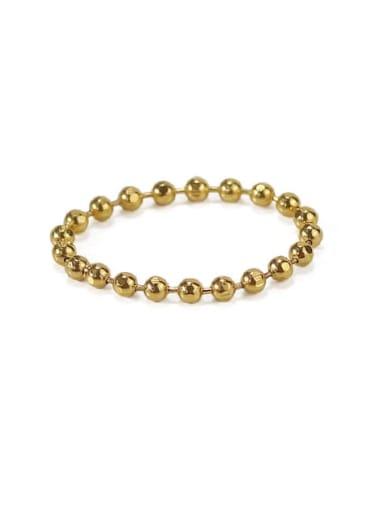Large gold bead chain (diameter 2.0 mm) Brass Bead Geometric Minimalist Midi Ring