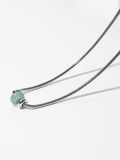 Brass Jade Geometric Vintage Necklace