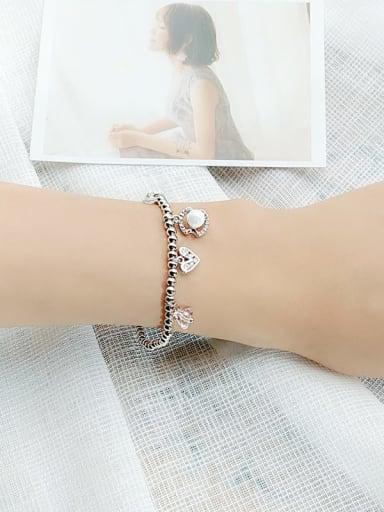 5 Alloy Cubic Zirconia Geometric Vintage Beaded Bracelet