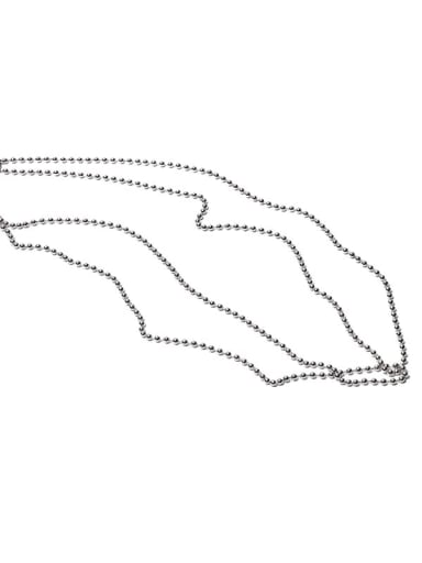 Bead Necklace Brass Geometric Minimalist Beaded Necklace