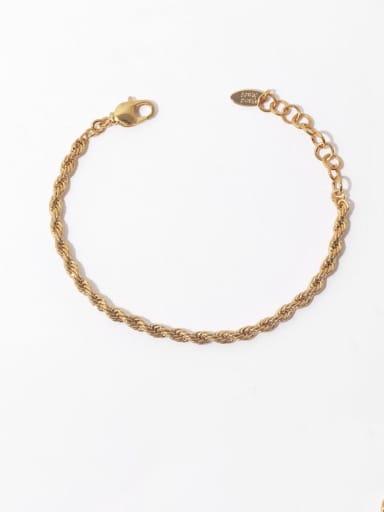 Brass Irregular Vintage Twist Chain  Woven Bracelet