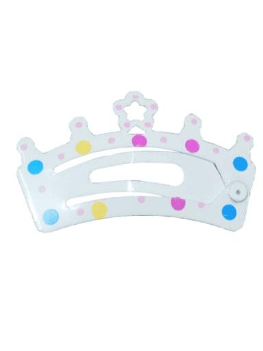 5903(1 Pack = 5 Pcs) Alloy Multi Color  Enamel Cute Crown Hair Barrette