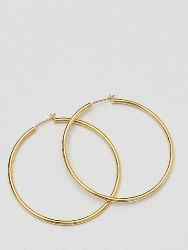 18K Gold 5.0 Brass Geometric Minimalist Hoop Earring