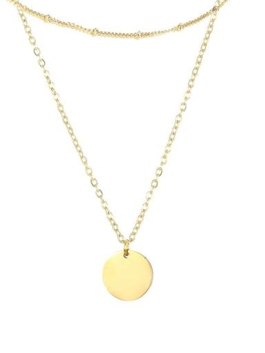 golden Stainless steel Locket Minimalist Multi Strand Necklace