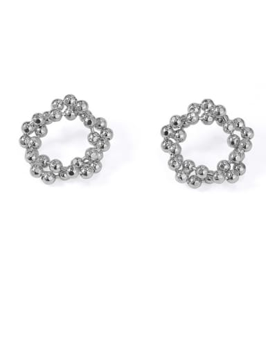 Item 2 Brass Hollow Round Vintage Stud Earring