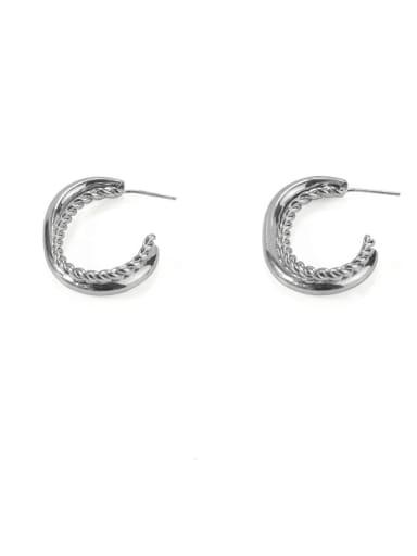 Item 4 Brass Hollow Geometric Vintage Stud Earring