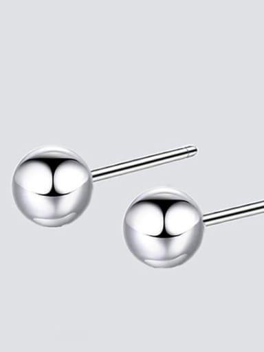 Ye17104 steel color Stainless steel Round Minimalist Stud Earring