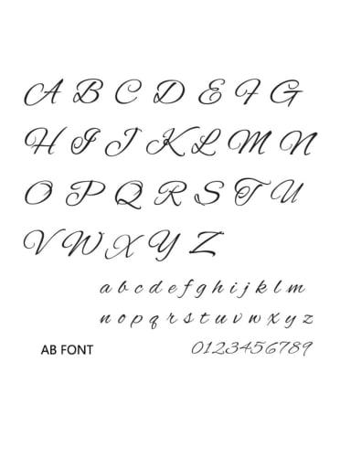 AB font Stainless steel Letter Minimalist  Name custom name ring