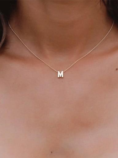 Titanium Letter Minimalist Initials Pendant Necklace