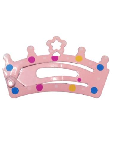 5902(1 Pack = 5 Pcs) Alloy Multi Color  Enamel Cute Crown Hair Barrette