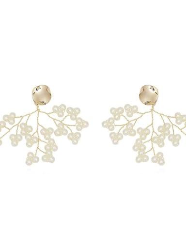 Copper Imitation Pearl Tree Bohemia Drop Trend Korean Fashion Earring