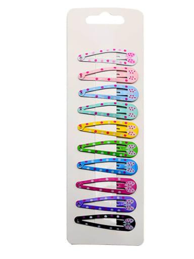 4 Alloy Multi Color Enamel Cute Water Drop  Hair Barrette