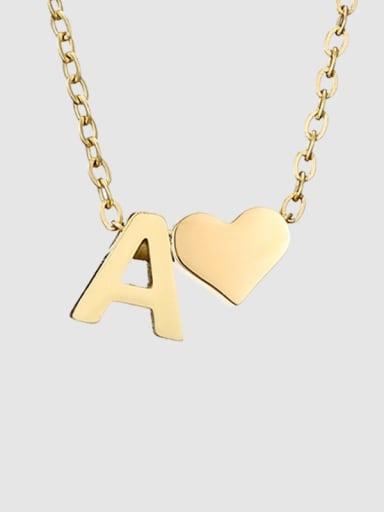 A 14K Gold Titanium Heart Minimalist Necklace