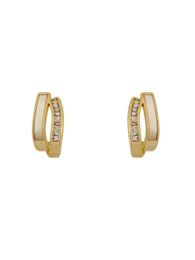 Brass Shell Irregular Minimalist Stud Earring