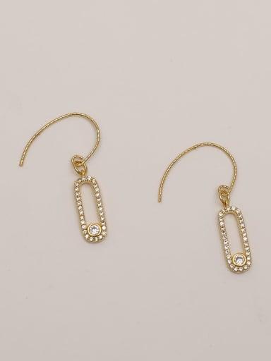 have cash less Brass Cubic Zirconia Geometric Ethnic Hook Earring