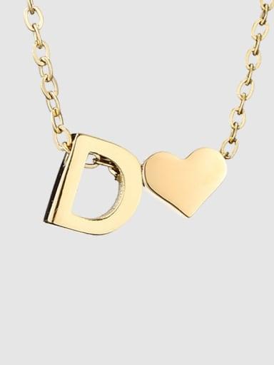 D 14 K gold Titanium Heart Minimalist Necklace
