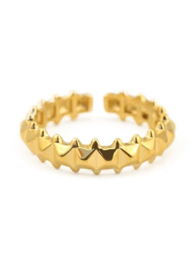 Gold rivet design Brass Irregular Minimalist Midi Ring