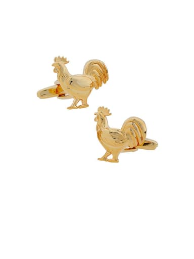 chicken Brass Animal Vintage Cuff Link