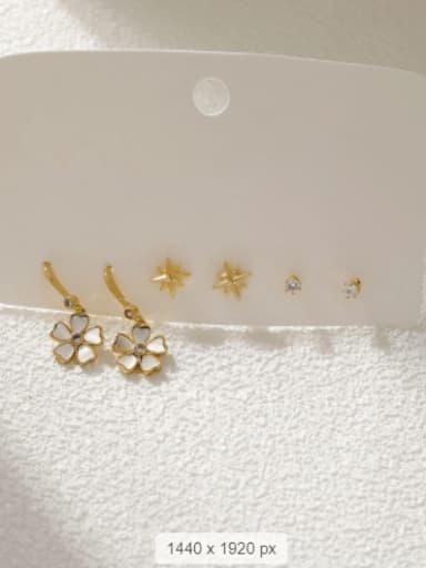 Brass Shell Star Minimalist Stud Earring